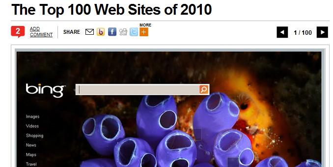Top 100 Web Sites 2010 PC Mag