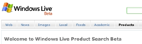 windows live product search