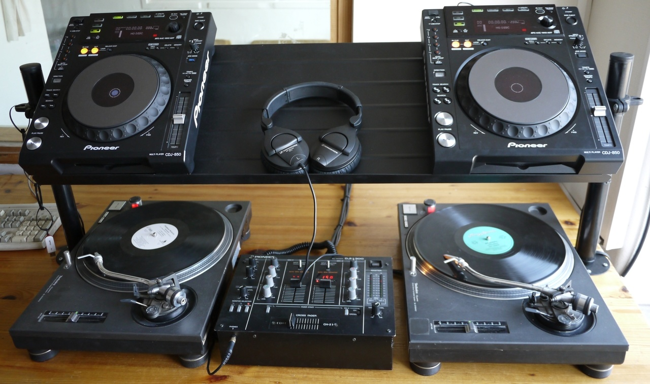 An Awesome DJ Setup Made from IKEA Furniture